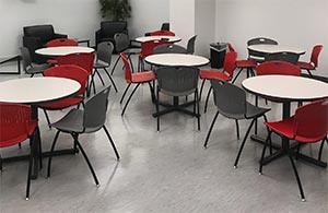 Break Room dining tables and chairs